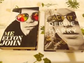 Two hardback books Elton John, Debbie harry