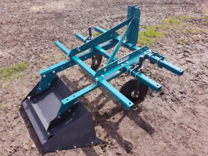 3pt hitch raised bed former hiller compact tractor organic