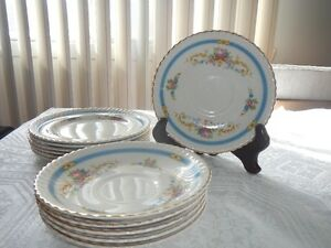 Johnson Bros. Plates (12), Pattern: Kent  Made in England 1940's