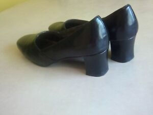 Black, 2 inch heels,by Tradition,closed toe,was expensive,narrow