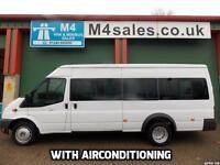 Ford Transit 135ps, 17St Minibus,PSV,tacho,a/con.