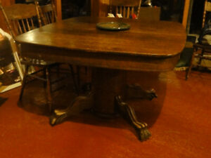 antique Claw-foot Dining Table