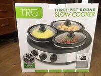 3 pot slow cooker - new and unused