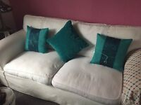 Ivory 3 seater settee