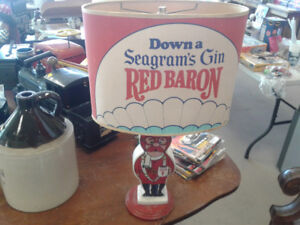 Seagrams Red Baron Lamp