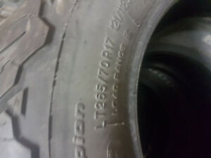 4- 265/70/17 bfg's ko2 90% or more tread left