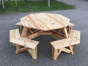 8 Person Octagon Cedar Picnic Table