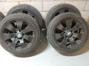 Winter Tires on BMW Rims (Plasti dipped) - 225 45 R17