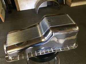 SBF FINNED OIL PAN! Cambridge Kitchener Area image 2