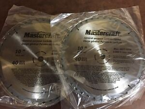"Mastercraft 10"" Table Saw Blades, new"