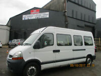 RENAULT MASTER WHEELCHAIR ACCESS MINIBUS ALL SEATS ON TRACKING £8995+VAT