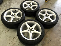 17inch Alloy Wheels 5x100 on 215/45R17 AllSeason Tires