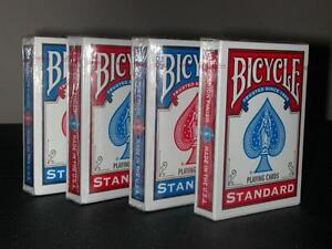 BICYCLE-POKER-STANDARD-PLAYING-CARDS-4-PACKS-DECKS-NEW-FREE-P-P