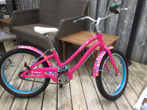"Two girls' Giant ""Bella"" bikes with 20"" wheels"