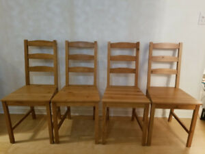 Ikea JOKKMOKK Antique Stain Wooden chairs - Set of 4