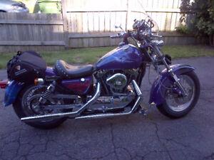 Sporster Shovel head, modifié, moto de collection unique.