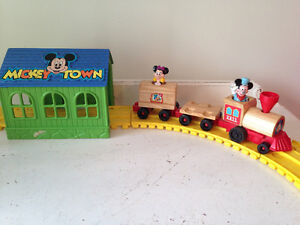 Vintage Mickey Mouse Train Set