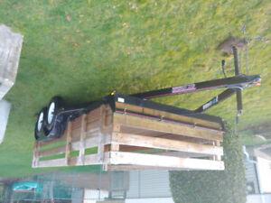 2016 flat deck car/ equipment hauler trailer