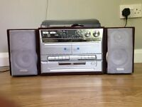 Turntable & radio for sale