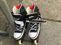 Boys in-line roller skates - hardly worn