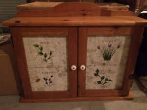 Spice cupboard and vase