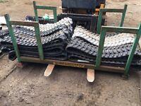25x brand new rubber digger tracks 180x72x37