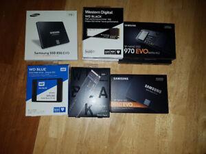 Plusieurs SSD Neuf et Sceller (500gb, 2Tb et NVME)