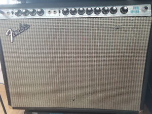 1973 Fender Twin Reverb Silverface with foot pedal