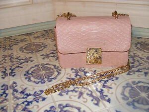 Pink Leather Purse New