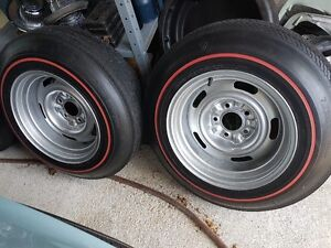 "Vintage redline tires on 15"" rally wheels"