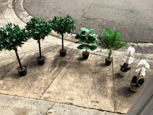 Various artificial plants x7