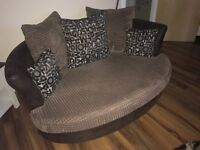3 Piece suite brown Leather/cushioned Excellent condition