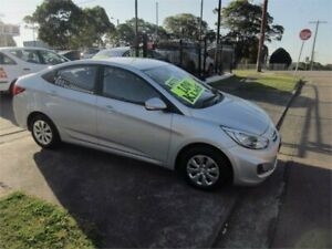 2016 Hyundai Accent RB3 MY16 Active Silver 6 Speed CVT Auto Sequential Sedan