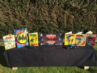 BATMAN 9 GREAT & SOME VERY RARE ITEMS FROM THE 1960's ONWARDS. BATMOBILE IS 40 YEARS OLD.