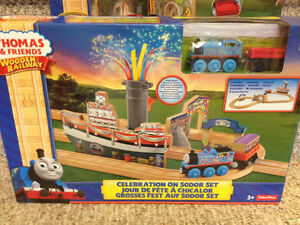 New! Thomas and friends wooden railway celebration on sodor set