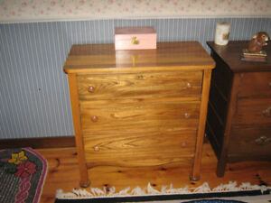 Antique Refinished Walnut 3 Drawer Dresser for Sale