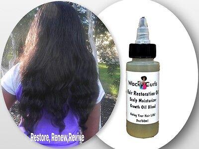 "STIMULATE HAIR GROWTH- WACKY CURLS HAIR RESTORATION OIL""WACK"