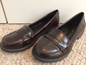 Women's Burgundy Penny Loafers