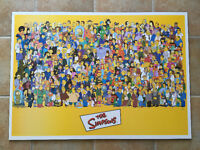 LARGE 3x2 ft The SIMPSONS cartoon WOOD MDF PRINT with Characters