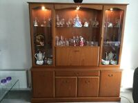 Display cabinet with drinks cabinet