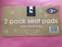 £6 3 x 2 pack seat pads brand new - collection only