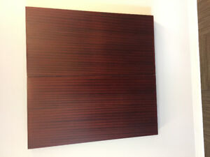 Wooden presentation cabinet, with whiteboard and projector. EUC