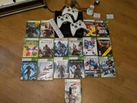 Xbox 360 incl. 17 games 3 controllers