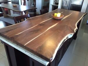 Unique one of a kind modern rustic tables cabinets live edge