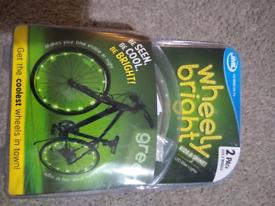 Wheely bright bike wheel lights x 2 brand new in box