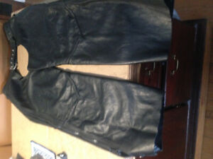 Leather Motorcycle chaps $65obo