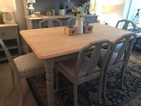 Farmhouse style table with 6 chairs
