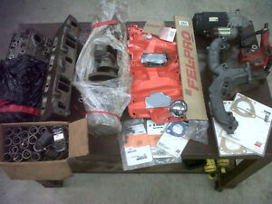 CAMEL HUMP HEADS,INTAKE,EXHAUST,CRANK, SOME NEW GASKETS