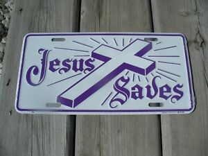 $20.00 EACH OR BOTH FOR $35.00 CHRISTIAN-  VEHICLE PLATES