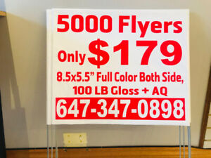 AMAZING DEAL 5000 FLYERS FOR JUST $179 ONLY CALL FOR DETAILS